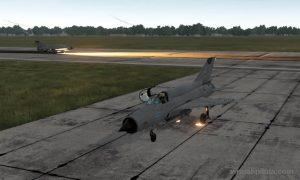 Тренировка на Миг-21: навигация по РСБН и пробивание облаков