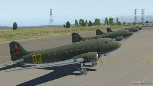 We received 4 brand new C-47 for ferrying them along ALSIB route