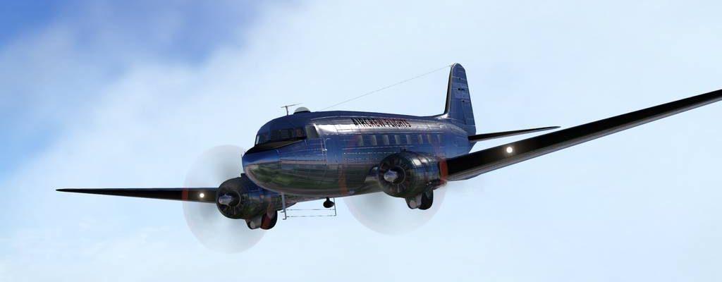 Первый полет экипажем в FSEconomy - DC-3 [видео]