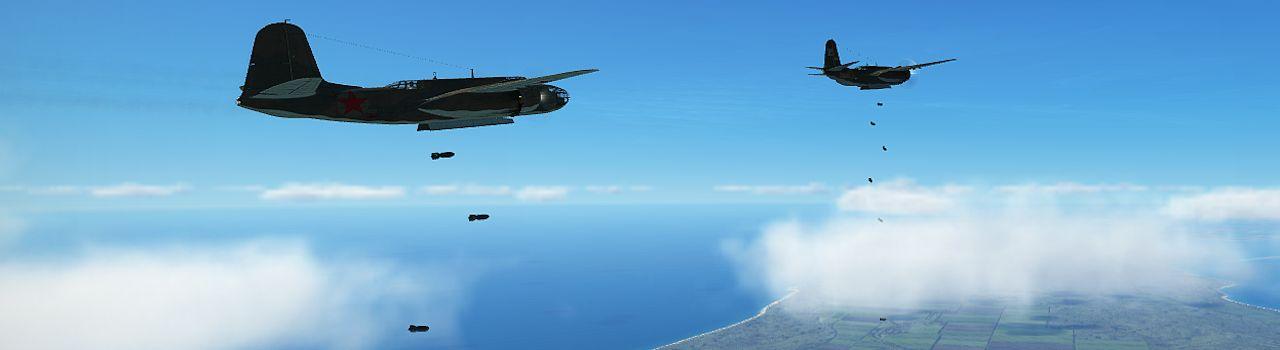 Ил-2 Штурмовик A-20 бомбардировка
