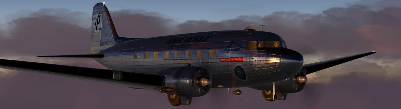 Вокруг света на самолете C-47 Skyrtrain