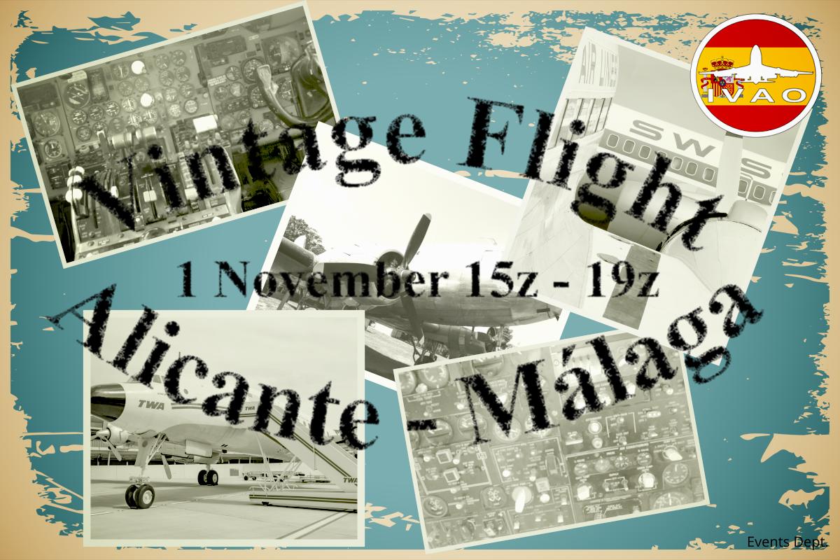 Вылет старинных самолетов в IVAO: Аликант — Малага
