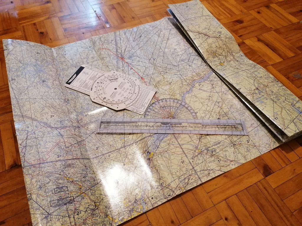 Летная карта для полетов vfr