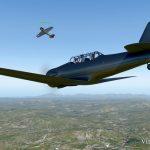 Тестирование JoinFS — полет строем на T-6G Texan