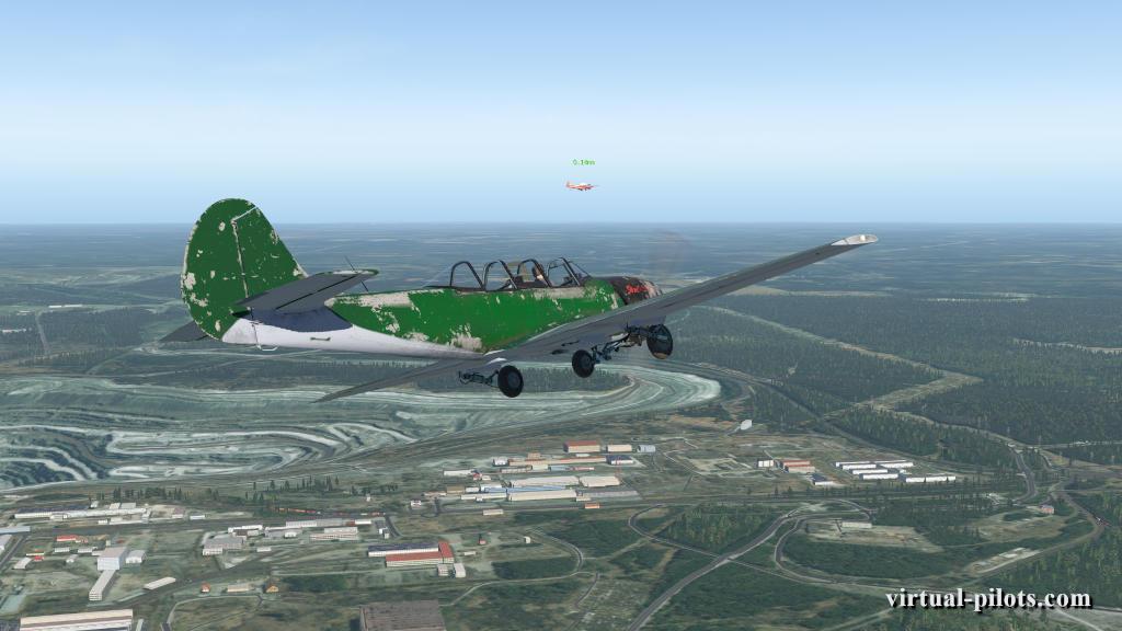 полет группой на Як-52
